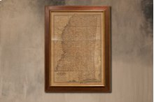 Framed Map Of Virginia, 1897, Small