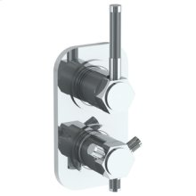Wall Mounted Mini Thermostatic Shower Trim With Built-in Control, 3 1/2""