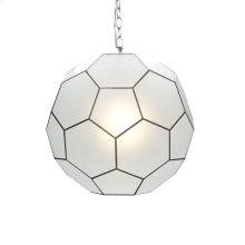 Large Frosted Glass Knox Pendant Ul Approved for One 60 Watt Bulb 3' Matching Chain Included. Additional Chain May Be Purchased Upon Request.