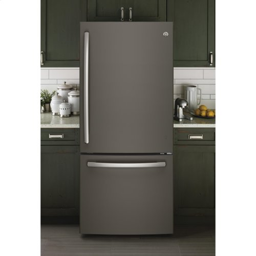 GE® ENERGY STAR® 21.0 Cu. Ft. Bottom-Freezer Refrigerator