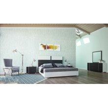 Nova Domus Corrado Italian Modern White & Grey Bedroom Set