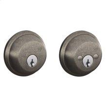 Double Cylinder Deadbolt - Distressed Nickel