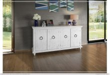 Console w/4 Doors, White finish