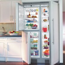 "48"" Built-in Side-By-Side 3 Temp. Zone Premium, NoFrost ~ stainless steel finish"