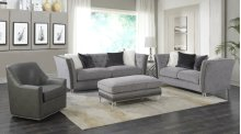 Emerald Home Patricia Sofa W/4 Pillows Pewter U3290-00-03