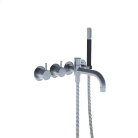 Two-handle build-in mixer with 1/4 turn ceramic disc technology - Gloss black