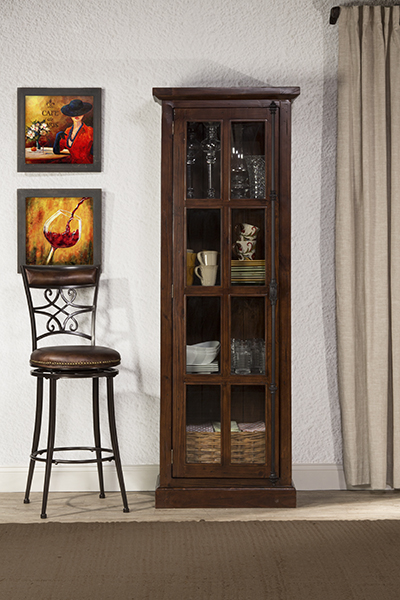 Tuscan Retreat® Tall Single Door Cabinet - Rustic Mahogany Hidden & 47931064W in by Hillsdale Furniture in Lancaster PA - Tuscan ...