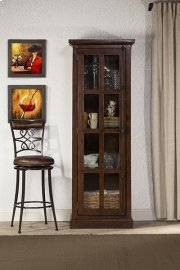 Tuscan Retreat® Tall Single Door Cabinet - Rustic Mahogany Product Image