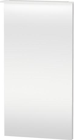 Mirror With Lighting, White Lilac Satin Matt Lacquer