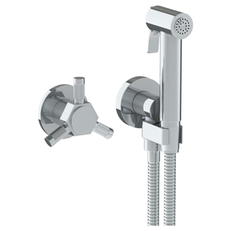 Wall Mounted Bidet Spray Set Progressive Mixer With 49 Hose
