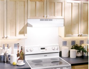 """24"""", White, Under Cabinet Hood, Non-ducted"""