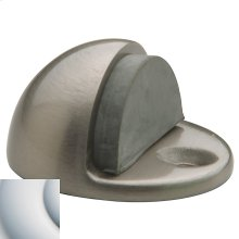 Satin Chrome Half Dome Door Bumper