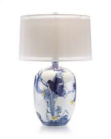 Blue Asian Gardens Table Lamp