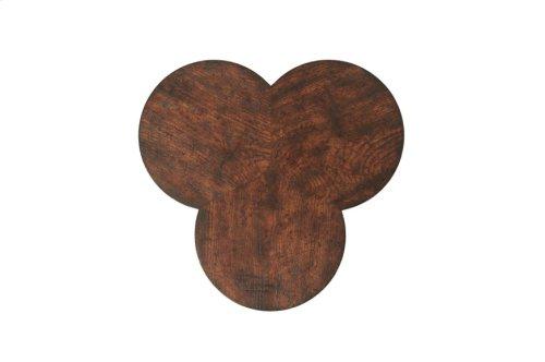 Oak Clover Accent Table