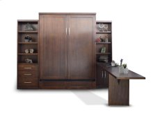 Add-A-Room Storage Murphy Wallbed with Two Cabinets and Desk