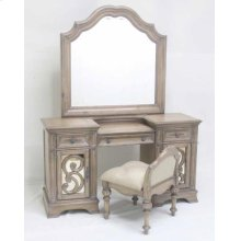 Ilana Traditional Vanity Stool With Upholstered Seat