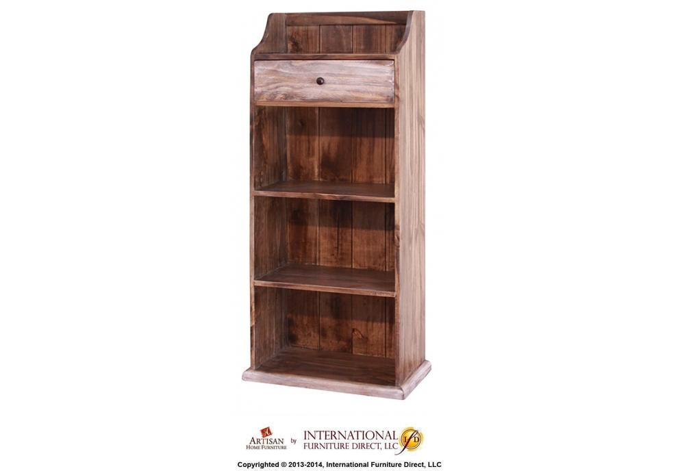 1 Shelf, 1 Door, 4 Shelves Bookcase Hidden
