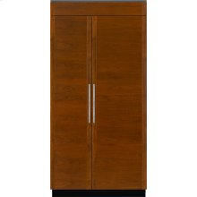 "Integrated Built-In Side-By-Side Refrigerator, 42"", Custom Overlay"