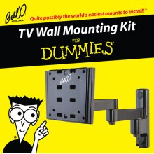 Articulating/Tilt/Pan mount for most small to medium size TVs including 8190DB Adapter Plates, For Dummies installation guide, and For Dummies step-by-step DVD video.