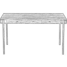 Trader's Writing Desk, Heather Grey