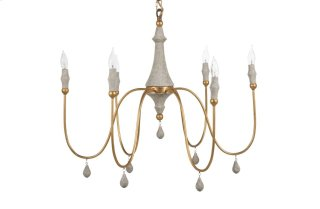 Clay Chandelier - Gold Small