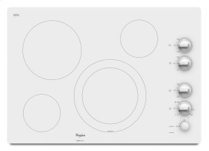"""Gold® 30-inch Electric Ceramic Glass Cooktop with 12""""/9"""" Dual Radiant Element Product Image"""
