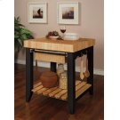 Color Story Black Butcher Block Kitchen Island Product Image