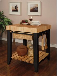 Color Story Black Butcher Block Kitchen Island