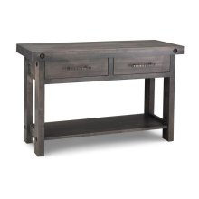 Rafters Sofa Table w/ 2 Drawers w/Shelf