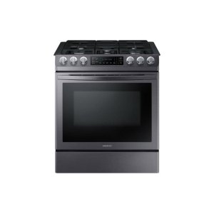 Samsung5.8 cu. ft. Slide-in Gas Range with Convection in Black Stainless Steel
