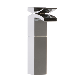 Vessel Lav Faucet High, Front Flow - Chrome