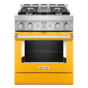KitchenAidKitchenAid® 30'' Smart Commercial-Style Gas Range with 4 Burners - Yellow Pepper