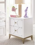 Night Stand with Decorative Lattice Product Image