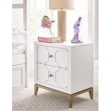 Night Stand with Decorative Lattice