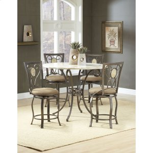 Hillsdale FurnitureBrookside 5pc Counter Height Set W/ Oval Stools