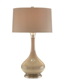Oyster-Colored Tone-on-Tone Lamp