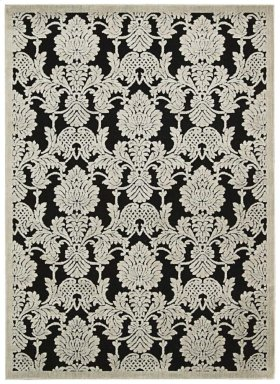 """GRAPHIC ILLUSIONS GIL03 BLK RECTANGLE RUG  Available in Sizes:  2'.3""""X 3'.9"""",  2'.3""""X 8'.0"""",  3'.6""""X 5'.6"""",  5'.3""""X 7'.5"""",  7'.9""""X 10'.10"""""""