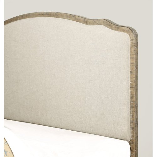 Emerald Home Interlude Queen Upholstered Bed Kit White Linen B560-11-k