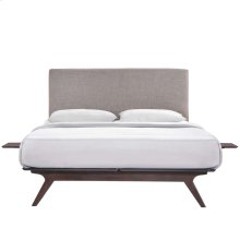 Tracy 3 Piece Full Bedroom Set in Cappuccino Gray