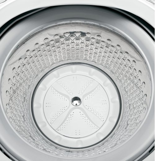 RED HOT BUY! GE® 5.1 DOE cu. ft. capacity washer with stainless steel basket