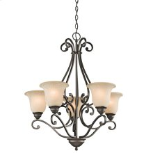 Camerena Collection Camerena 5 Light Chandelier - Olde Bronze