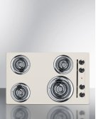 """30"""" Wide 220v Electric Cooktop In Bisque Porcelain Finish Product Image"""