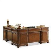 Bristol Court L Desk and Return Cognac Cherry finish Product Image