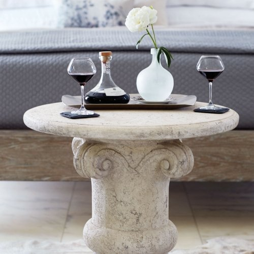 Campania Chairside Table in Oyster (370)