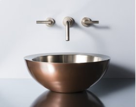 Small Beveled Vessel Copper Stainless