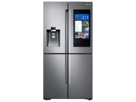 Samsung 4pc. Stainless Steel kitchen package with 22 cu.ft. counter depth 4-Door fridge and slide-in convection gas range