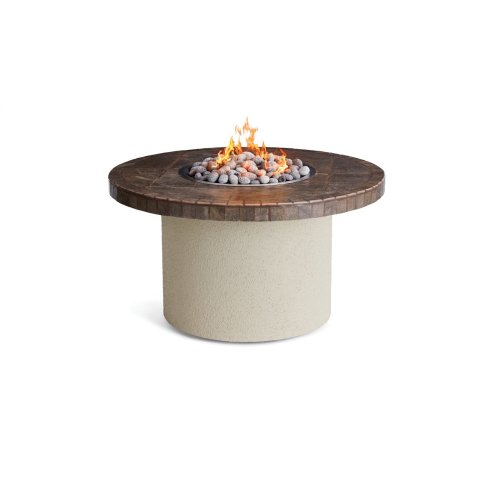 """44"""" Circular Ice N Fire Pit, Contemporary Gray"""