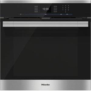 Miele24 Inch Convection Oven with AirClean catalyzer and Roast probe for precise cooking.