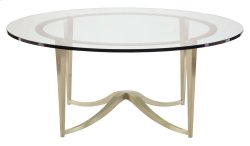 Miramont Round Metal Cocktail Table with Glass Top