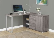 """COMPUTER DESK - 60""""L / DARK TAUPE LEFT OR RIGHT FACING"""
